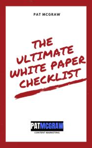 white paper checklist